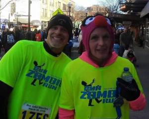 Me and my sister at the Ann Arbor Half Marathon. Did I mention it was chilly?