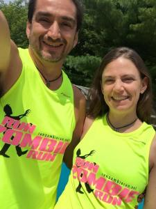 "Friends Tom and Dianna rock the limited edition ""Run Zombie Run"" tanks."